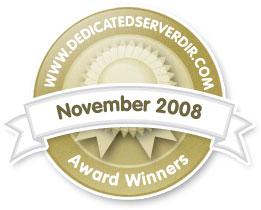 November 2008 - Reseller Hosting Award Winner